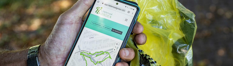 zwervuil-rapen-app-helemaal-groen
